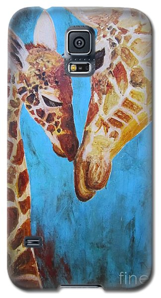 Galaxy S5 Case featuring the painting First Love by Ashley Price