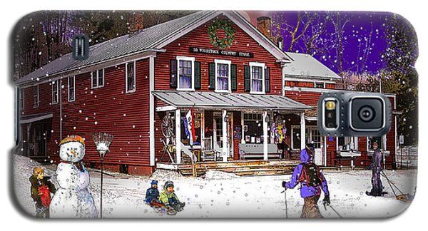 First Snow At The South Woodstock Country Store Galaxy S5 Case
