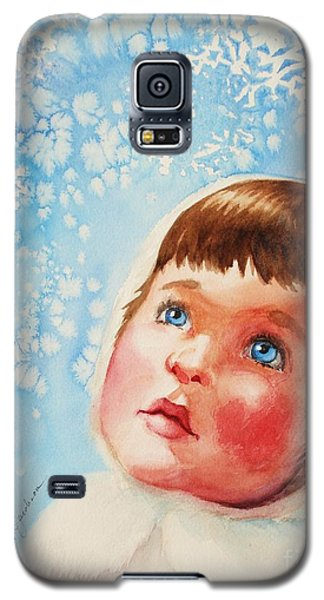 Galaxy S5 Case featuring the painting First Snowfall by Marilyn Jacobson