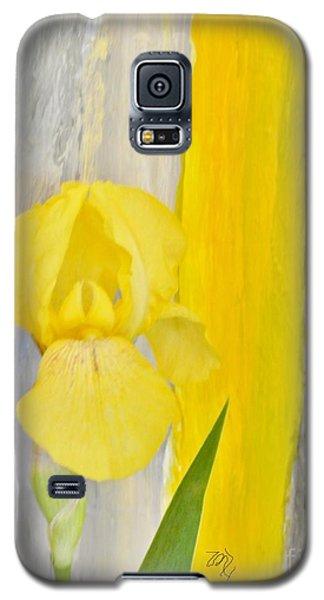First Yellow Iris Galaxy S5 Case by Marsha Heiken
