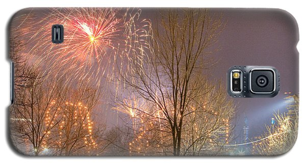 Galaxy S5 Case featuring the photograph Firstnight Fireworks by Susan Cole Kelly