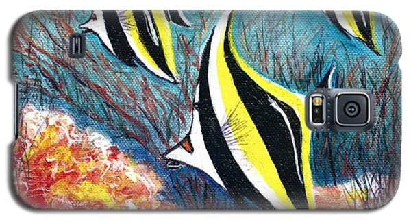 Moorish Idol Fish And Coral Reef Galaxy S5 Case