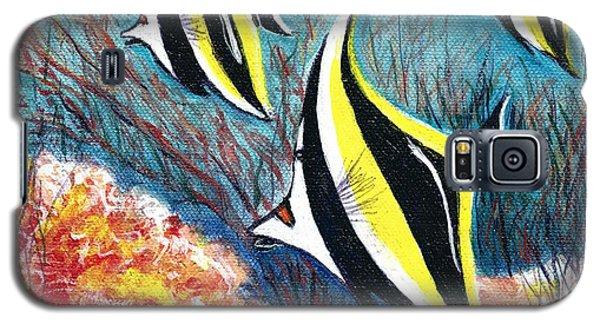 Moorish Idol Fish And Coral Reef Galaxy S5 Case