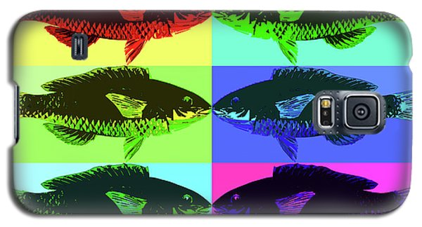Galaxy S5 Case featuring the digital art Fish Dinner Pop Art by Nancy Merkle