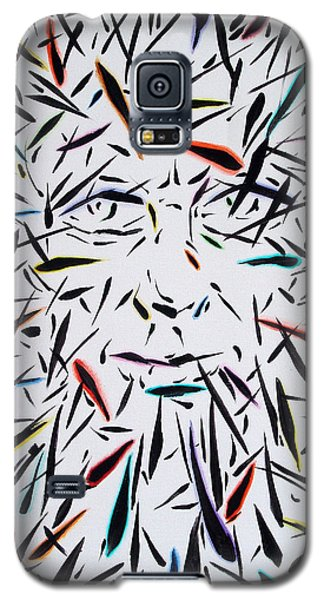 Galaxy S5 Case featuring the painting Fish Face Aka Minnow Man by John Norman Stewart