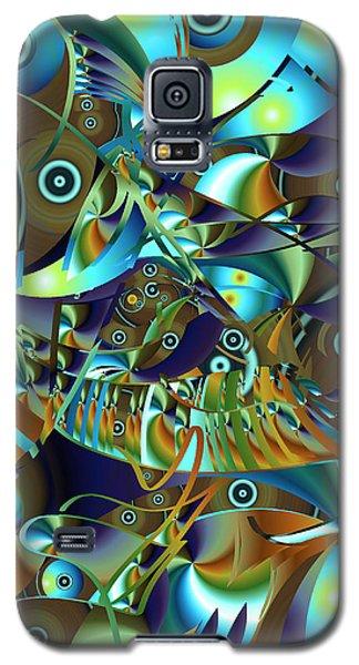 Galaxy S5 Case featuring the digital art Fish Fiesta by Lynda Lehmann