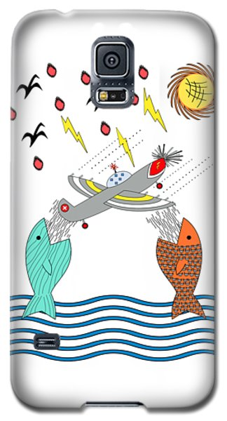 Fish Food Galaxy S5 Case by Methune Hively