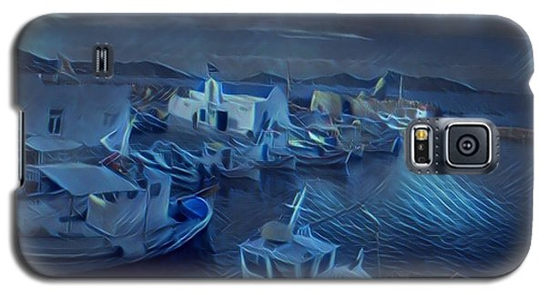 Fish Harbour Paros Island Greece Galaxy S5 Case