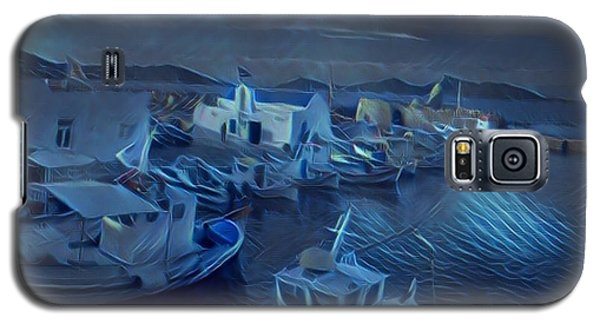 Galaxy S5 Case featuring the photograph Fish Harbour Paros Island Greece by Colette V Hera Guggenheim