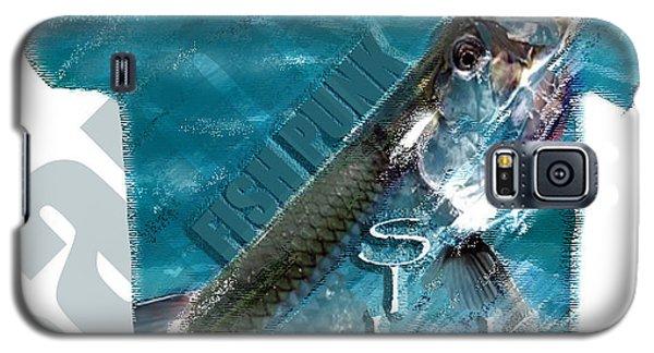 Fish Punk Tarpon Design Galaxy S5 Case