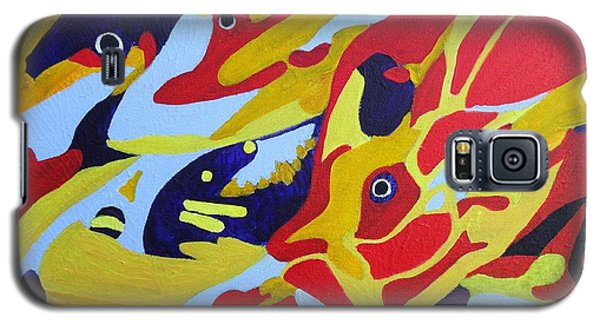 Fish Shoal Abstract 2 Galaxy S5 Case