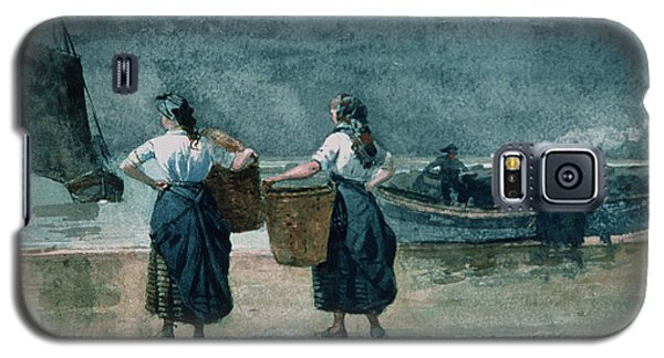 Fisher Girls By The Sea Galaxy S5 Case by Winslow Homer