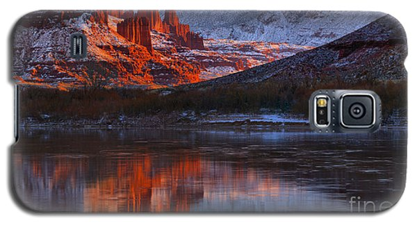 Galaxy S5 Case featuring the photograph Fisher Towers And La Sal Mountains by Adam Jewell