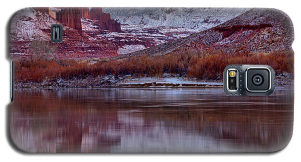 Galaxy S5 Case featuring the photograph Fisher Towers Fading Sunset by Adam Jewell