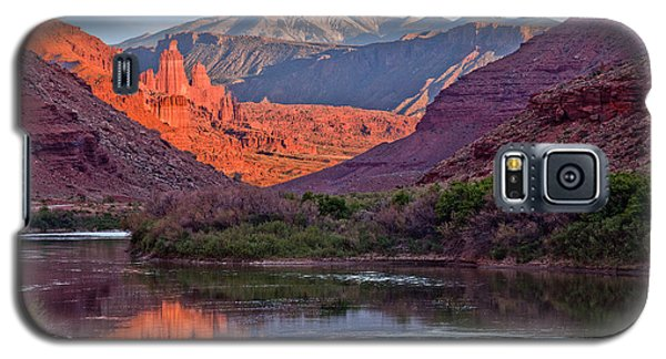 Fisher Towers Sunset Reflection Galaxy S5 Case