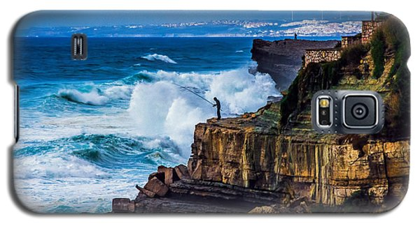 Galaxy S5 Case featuring the photograph Fisherman And The Sea by Marion McCristall