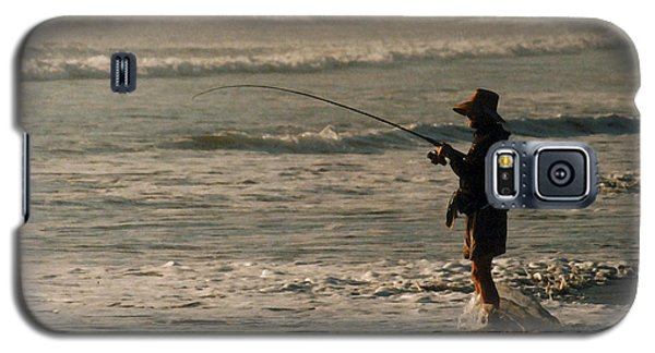 Galaxy S5 Case featuring the photograph Fisherman by Steve Karol
