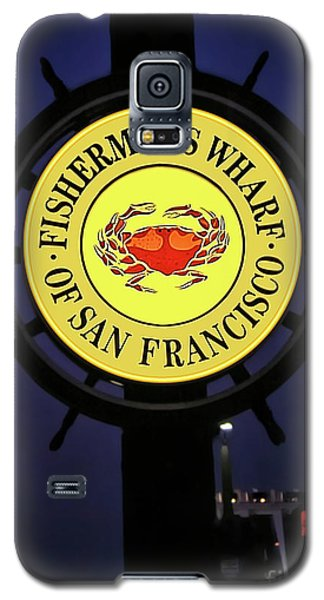 Fishermans Wharf Sign At Night Galaxy S5 Case