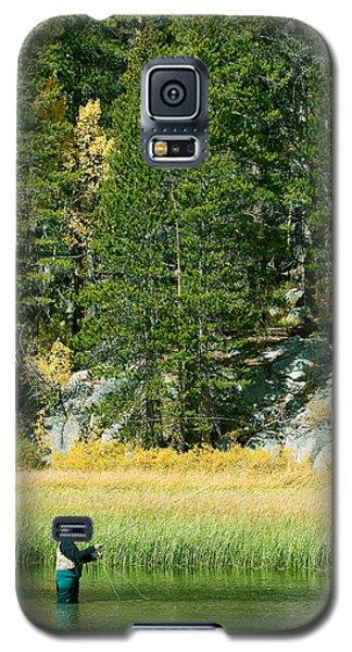 Galaxy S5 Case featuring the photograph Fisherwoman - Eastern Sierra California by Ram Vasudev