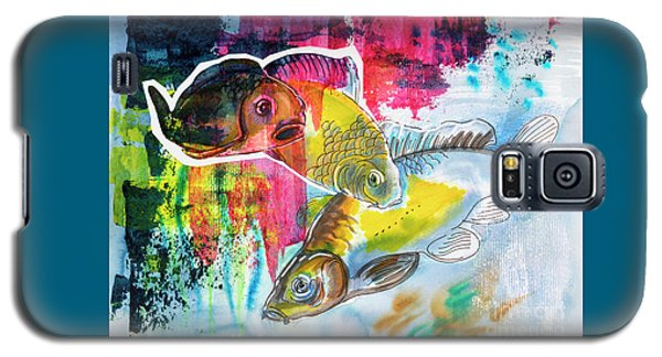 Fishes In Water, Original Painting Galaxy S5 Case