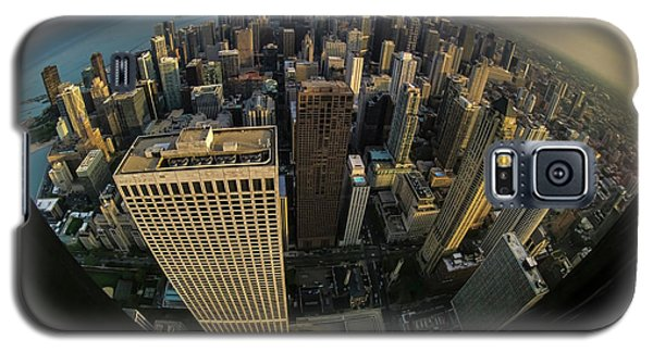 Fisheye View Of Dowtown Chicago From Above  Galaxy S5 Case