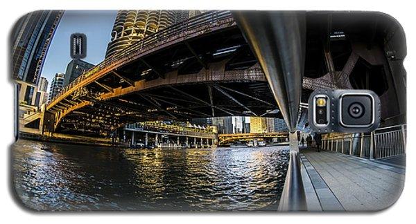 Fisheye View From The Chicago Riverwalk Galaxy S5 Case