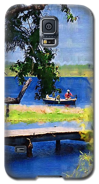 Galaxy S5 Case featuring the photograph Fishin by Donna Bentley