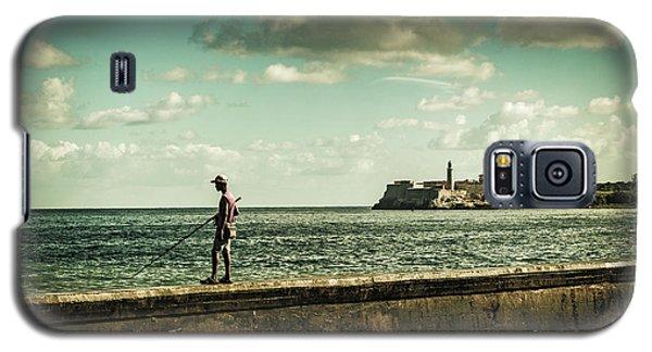 Fishing Along The Malecon Galaxy S5 Case