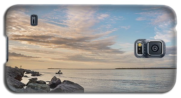 Galaxy S5 Case featuring the photograph Fishing Along The South Jetty by Greg Nyquist