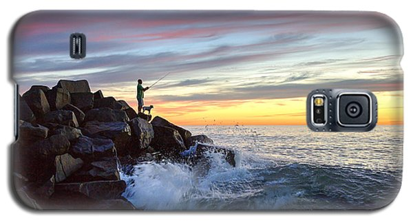 Fishing At Sunset Galaxy S5 Case by Ann Patterson