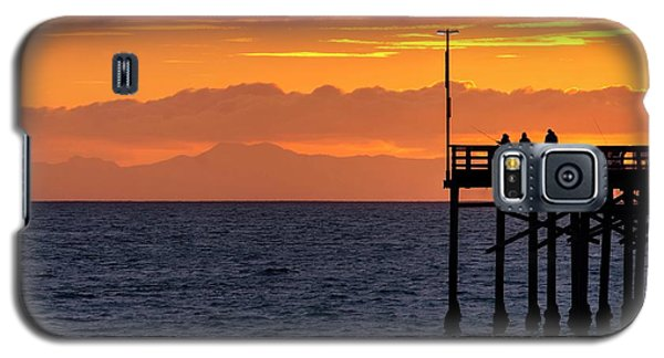 Galaxy S5 Case featuring the photograph Fishing At Sunset by Quality HDR Photography