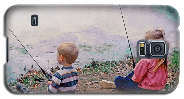Fishing At Watkins Mill Galaxy S5 Case by Steve Karol