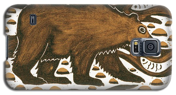 Fishing Bear Galaxy S5 Case by Nat Morley