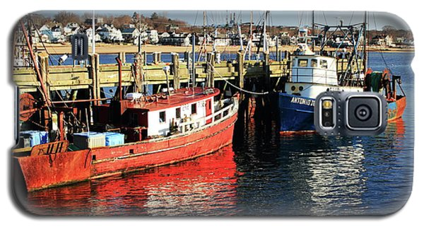 Galaxy S5 Case featuring the photograph Fishing Boats At Provincetown Wharf by Roupen  Baker
