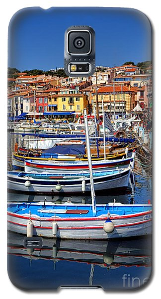 Galaxy S5 Case featuring the photograph Fishing Boats In Cassis by Olivier Le Queinec