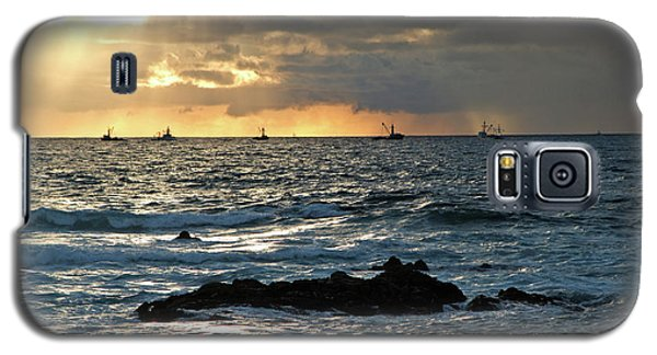 Fishing Boats Off Point Lobos Galaxy S5 Case