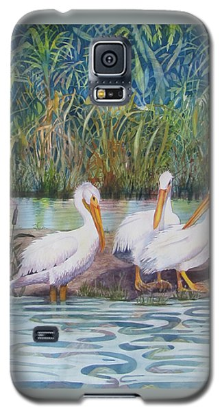 Galaxy S5 Case featuring the painting Fishing Buddies by Martha Ayotte