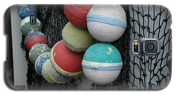Galaxy S5 Case featuring the photograph Fishing Buoys by Nancy Taylor