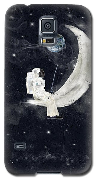 Galaxy S5 Case featuring the painting Fishing For Stars by Bri B