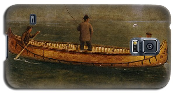 Fishing From A Canoe Galaxy S5 Case by Albert Bierstadt