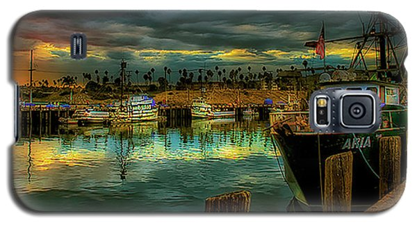 Fishing Harbor At Sunset Galaxy S5 Case by Joseph Hollingsworth