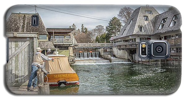 Galaxy S5 Case featuring the photograph Fishing In Fishtown Michigan Leland  by John McGraw