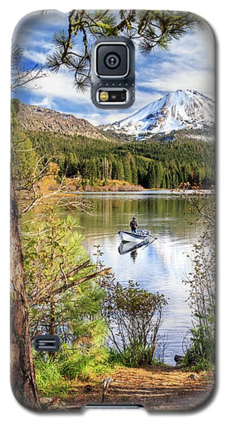 Galaxy S5 Case featuring the photograph Fishing In Manzanita Lake by James Eddy