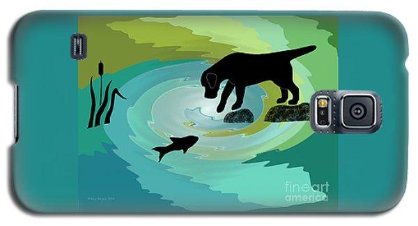 Fishing Labrador Dog Galaxy S5 Case