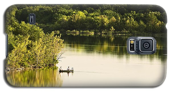 Galaxy S5 Case featuring the photograph Fishing On Mountain Lake by Tamyra Ayles