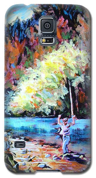 Fishing Painting Catch Of The Day Galaxy S5 Case