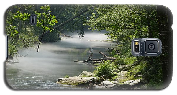 Galaxy S5 Case featuring the photograph Fishing The Gunpowder Falls by Donald C Morgan