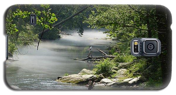Fishing The Gunpowder Falls Galaxy S5 Case by Donald C Morgan