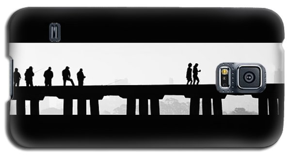 Galaxy S5 Case featuring the photograph Fishing The San Francisco Skyline by Steve Siri