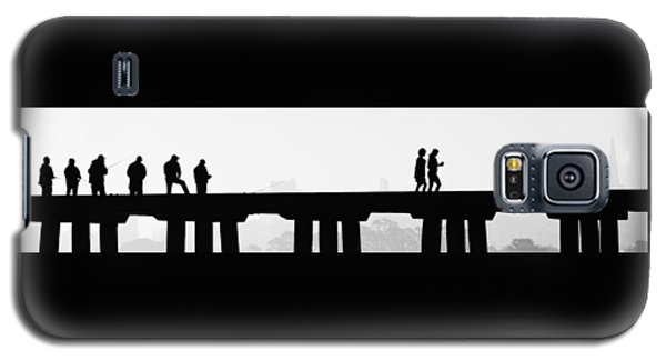 Fishing The San Francisco Skyline Galaxy S5 Case